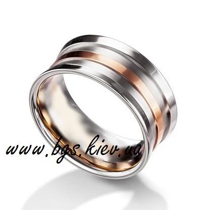 Мужское обручальное кольцо широкое без камней