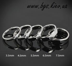 Классическое обручальное кольцо Американка