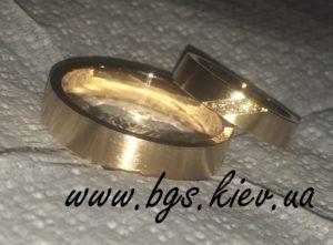 Самые обручальные кольца из желтого золота «Испания» популярные