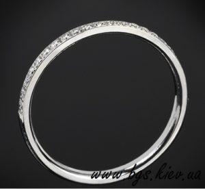 обручальное женское золотое кольцо tiffany, Обручальное и помолвочное кольцо «Бриллиантовая нить»