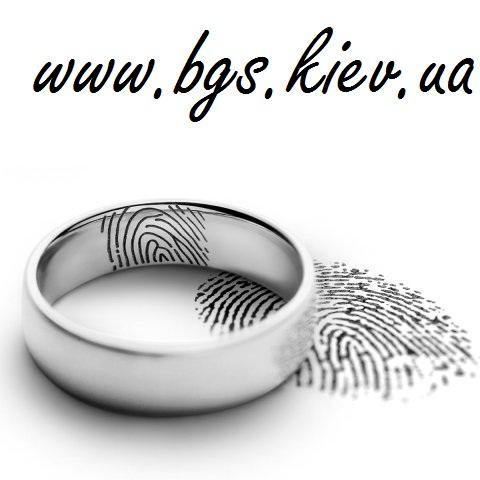 Обручальное кольцо с отпечатком пальца в белом золоте на заказ в ювелирной мастерской Best Gold Service