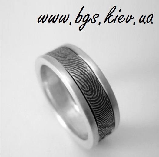 Обручальное кольцо с отпечатком пальца