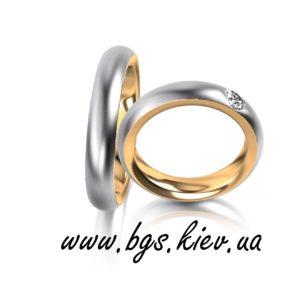 Обручальные кольца из комбинированного золота с зоной комфорта