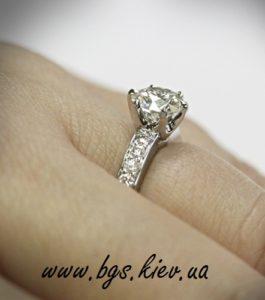 кольцо с бриллиантами фото на пальце