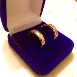 Золотое обручальное кольцо с комфортной посадкой