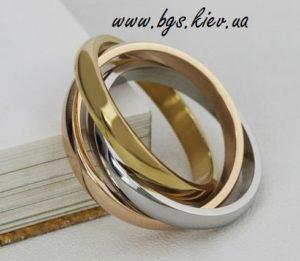 Обручальные кольца Trinity Cartier из комбинированного золота