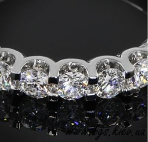 Золотое кольцо на подарок «Ваниль» из белого золота, Помолвочные кольца «Ваниль» из белого золота