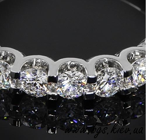 золотое кольцо на подарок, Золотое кольцо на подарок «Ваниль» из белого золота, Помолвочные кольца «Ваниль» из белого золота