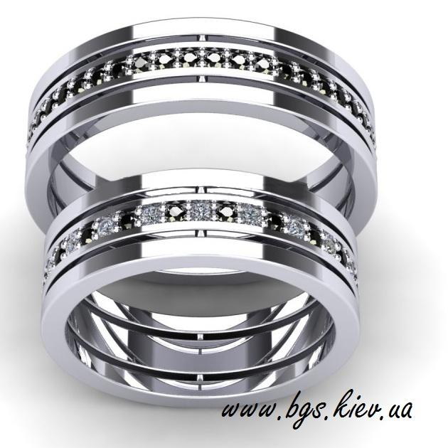 Обручальные кольца из белого золота парные