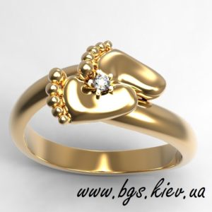 подарок для мамы на рождение ребенка кольцо ножки младенца