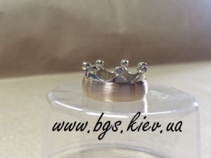 Обручальное кольцо корона из комбинированного золота