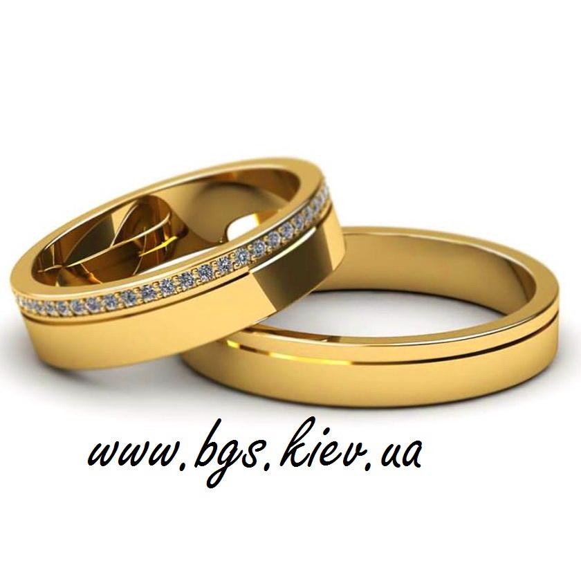 обручальное кольцо с дорожкой из камне
