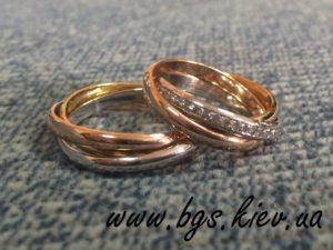 Женское кольцо Cartier Trinity из комбинированного золота