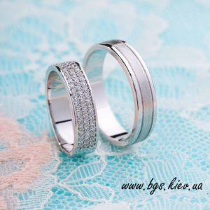 обручальные кольца белое золото ручная работа