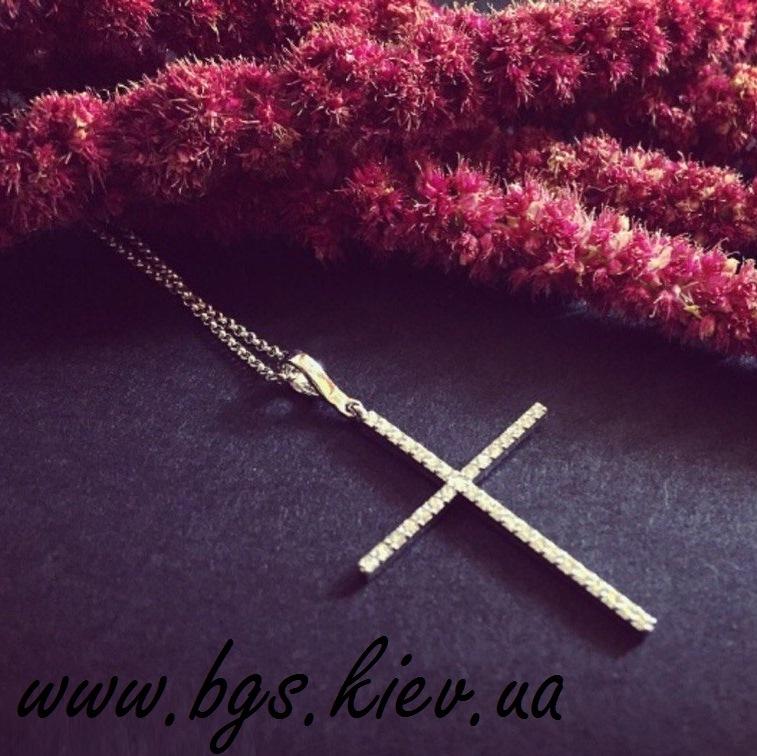 Золотая подвеска крестик
