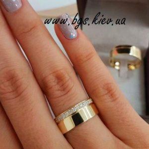 обручальные кольца с камнями