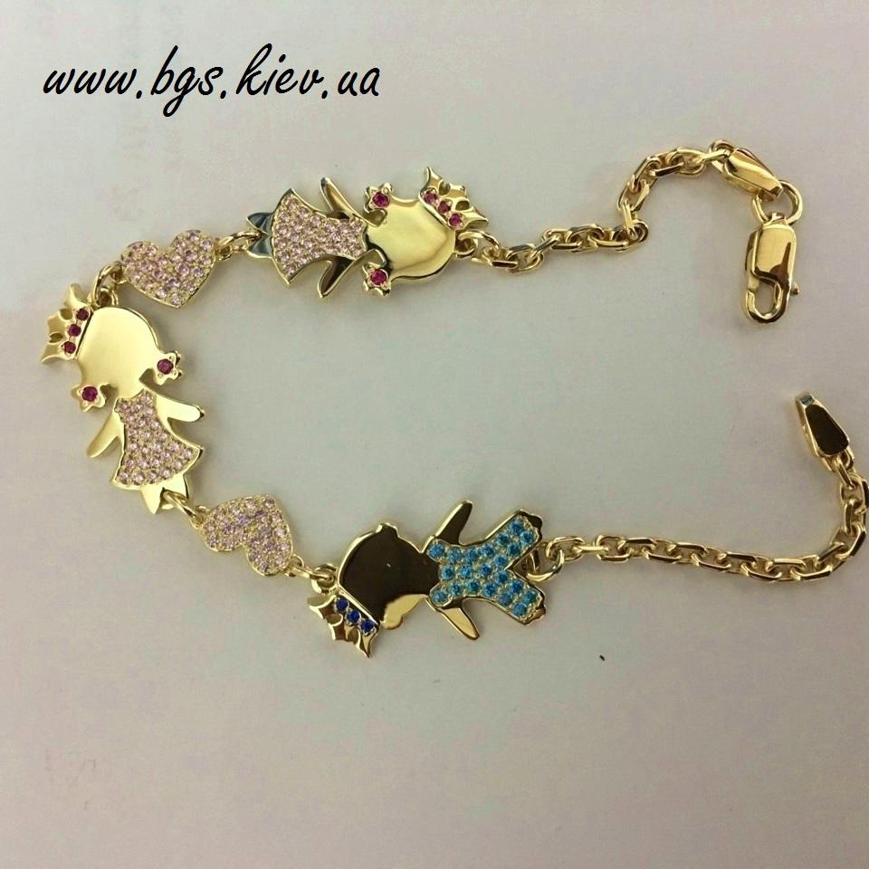 Золотой браслет для мамы на заказ